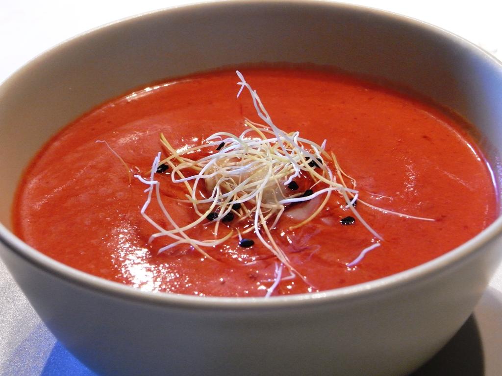 Greenas Eisgekühltes Gazpacho (Rohkost / Paleo / Vegan / Glutenfrei / Low Carb)